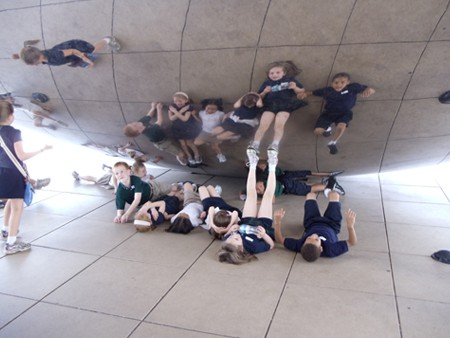 "Reflecting at the ""Bean""  - Cloud Gate, Millennium Park, Chicago"